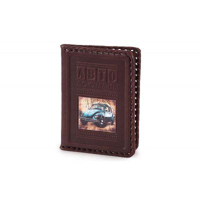 Купить Обложка для водительского удостоверения «Синяя молния» 003-08-16М в Москве