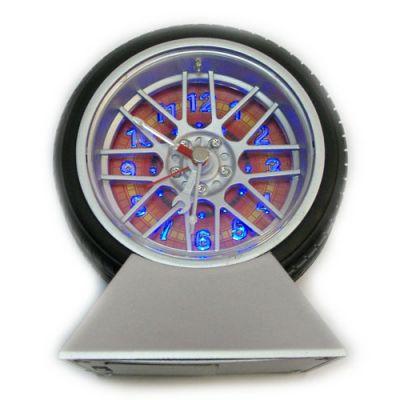 Купить Часы колесо  будильник  с подсветкой на подставке в Москве