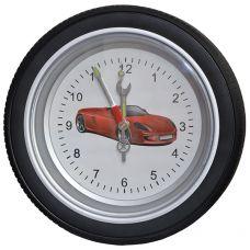 """Часы колесо """"Феррари"""" большие,диаметр 35 см"""
