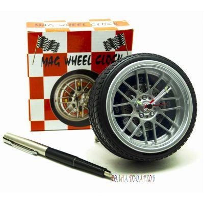 Купить  Настольные Часы колесо с будильником в Москве