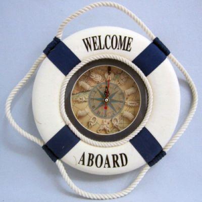 Купить Часы настенные Спасательный круг 35 см синие в Москве