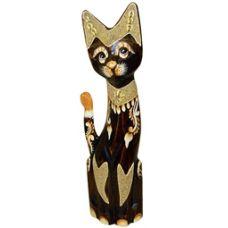 Деревянная фигурка Кошка хвост трубой 50см. HI-3BRO 00-90D