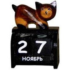 Календарь настольный с фигуркой животного Кот 11х17см. HI-13BCC 00-02A
