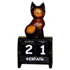 Календарь настольный с фигуркой животного Кот 10х14см. HI-13BCC 00-03A