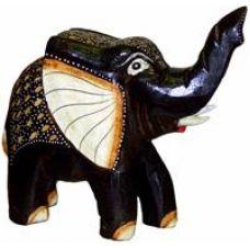 Деревянная статуэтка Слон 28х24см. HI-6BS 01-78B