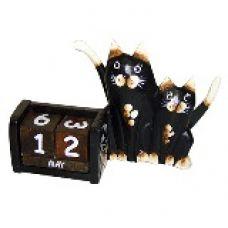 Календарь настольный с фигуркой животного Кошка с котенком 21х14см. HI-13BMS 00-10