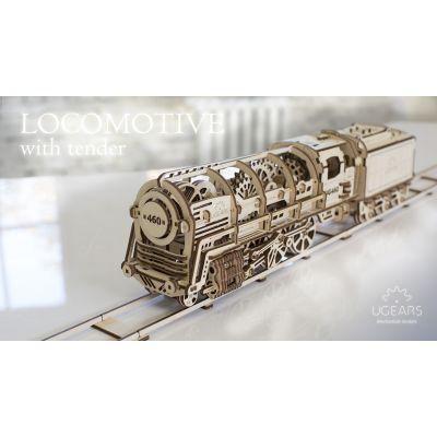 Купить 3Д-Пазл UGEARS Поезд (Локомотив) в Москве