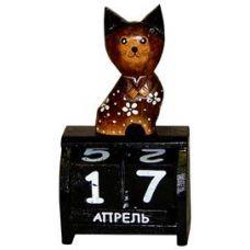 Календарь настольный с фигуркой животного Кот 10х19см. HI-13BCC 00-04A
