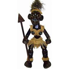 Деревянная статуэтка аборигена, племя Асмат, Воин 40см. HI-5BR 40B