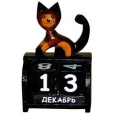 Календарь настольный с фигуркой животного Кот 10х19см. HI-13BCC 00-05A