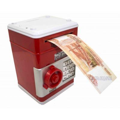 Купить Копилка СЕЙФ,красная в Москве
