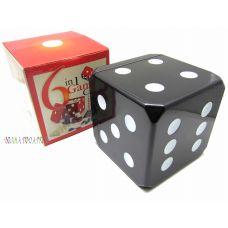 """Набор игр 6 в 1 """"Куб""""шашки,шахматы,нарды,покер,домино карты"""