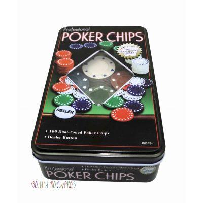 Купить Набор 100 фишек для покера без номинала в Москве