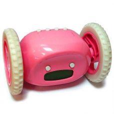Убегающий будильник,розовый