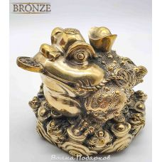 Денежная лягушка, бронза 12х12х10см