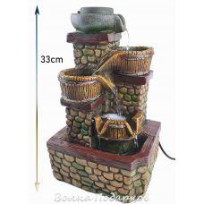 Фонтан настольный Прованс, высота 33 см, подсветка