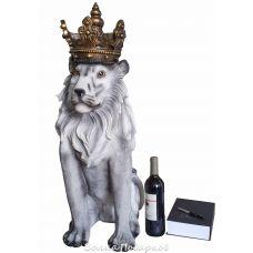 Большой Лев с короной,высота 80см