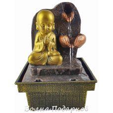 Фонтанчик настольный Буддийский монах,высота18см