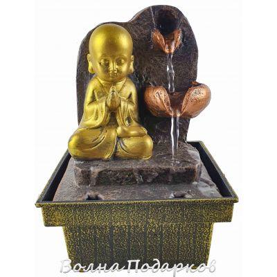 Купить Фонтанчик настольный Буддийский монах,высота18см в Москве