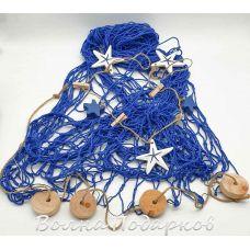 морская Сеть декоративная 2х1м поплавки, звезды
