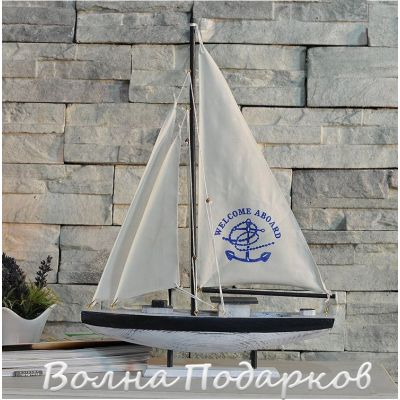 Купить Модель яхты 64 см, дерево, парусина в Москве