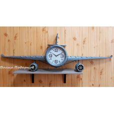 Большие Часы настенные в виде самолета ,140см