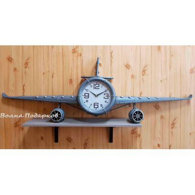 Купить  Большие Часы настенные в виде самолета ,140см в Москве