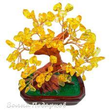 Деревце счастья Янтарное,30см
