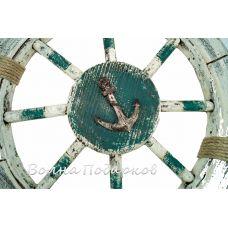 Штурвал морской состаренный 62см