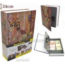 Книга сейф с кодовым замком  Butterfly 24см