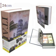 """Книга сейф с кодовым замком """"Путешествие в Италию"""" 24см"""