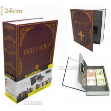 Книга сейф с кодовым замком  Библия, 24см