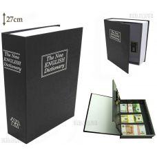 Книга сейф с ключом, 27см