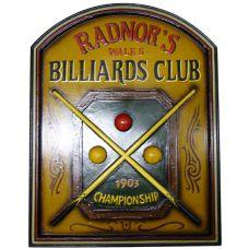 панно  Бильярдный Клуб RADNOR'S