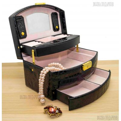 Купить Шкатулка для ювелирных украшений Valise 057 BLACK в Москве