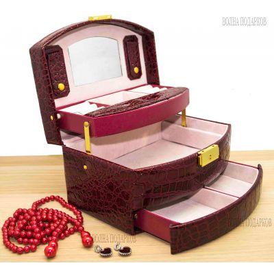 Купить Шкатулка для ювелирных украшений Valise 057 BORDO в Москве