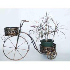 """Подставка для цветов """"Велосипед"""" с двумя корзинками"""